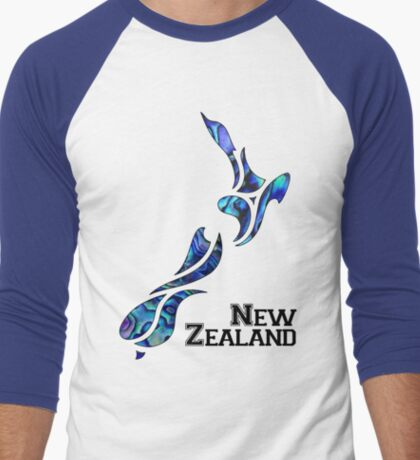 Fluid New Zealand Men's Baseball ¾ T-Shirt