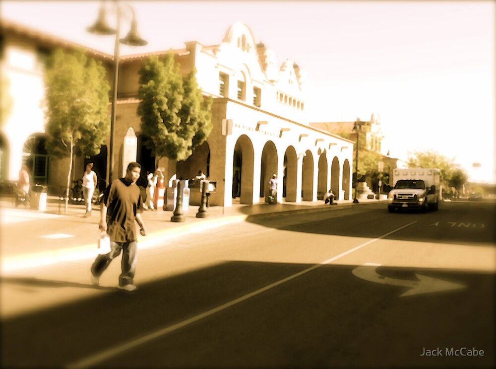 Heading To The Station, Albuquerque In April Series 2009 by Jack McCabe