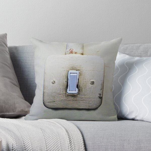 The Wall Light Switch Throw Pillow