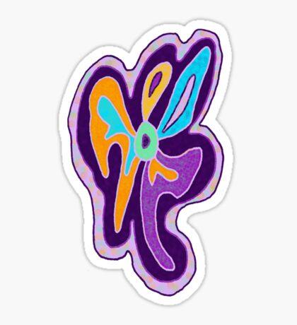 Purple Freeform Flower Sticker