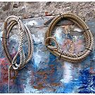 Fishing village - ropes on the wall  by Thaichi