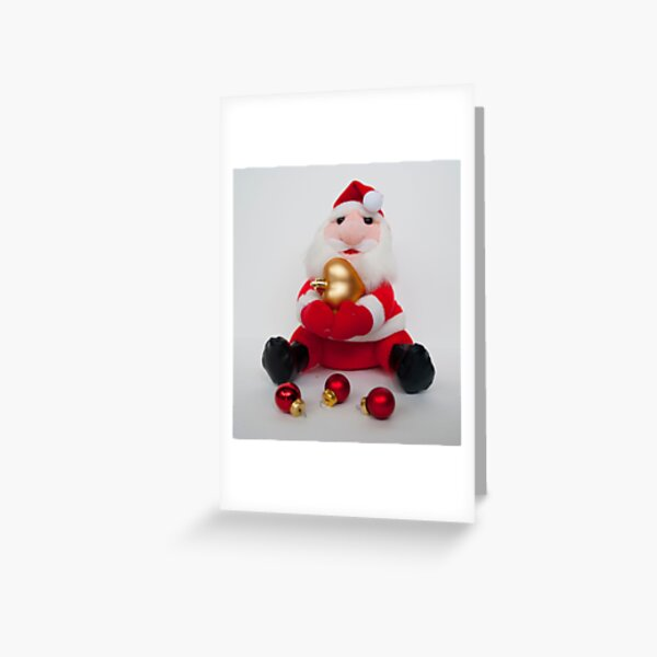 Grumpy Santa Claus Greeting Card