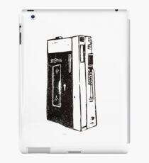 Speak, Listen & Repeat , Handprinted Vintage Tape Recorder Inspired Linocut Design by Bonfirecherry iPad Case/Skin