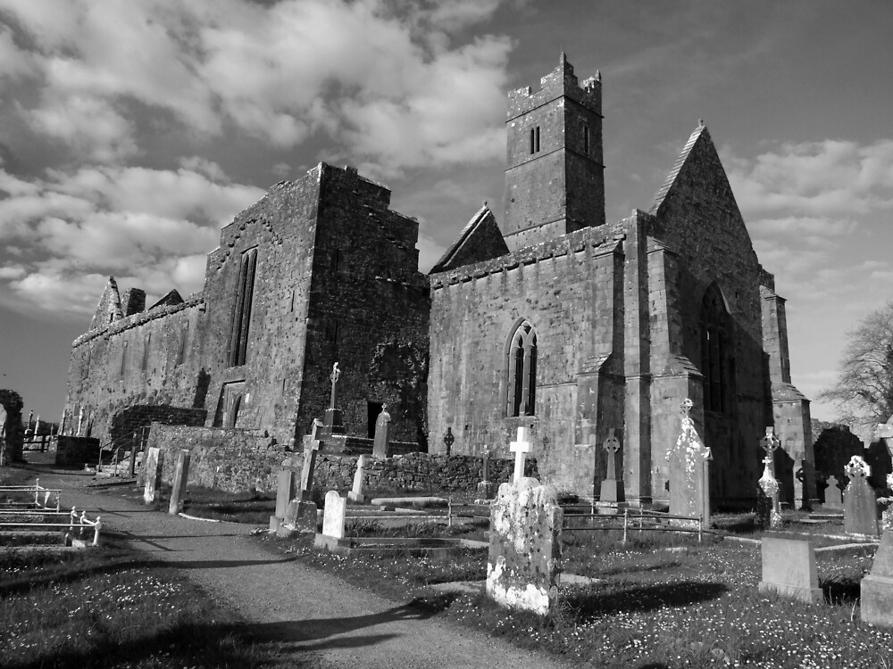 Quin Abbey (Clare) by John Quinn
