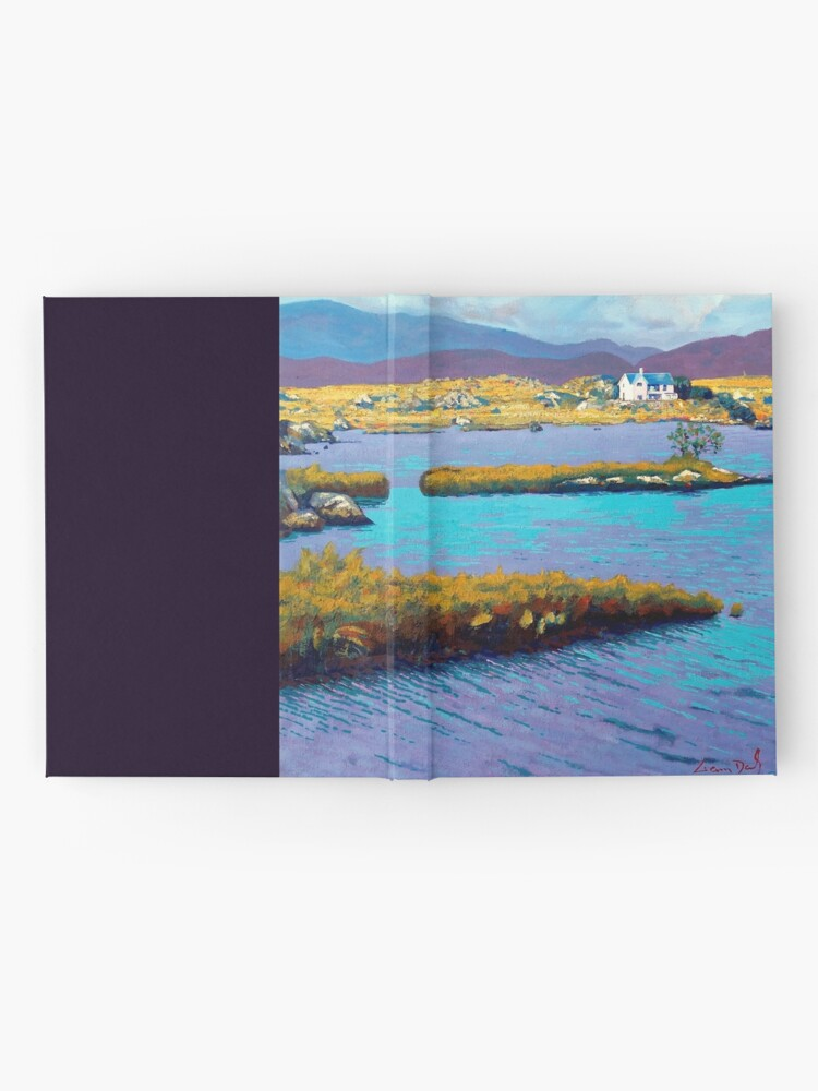 Alternate view of Lough Nafurnace, Galway, Ireland. Hardcover Journal