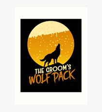 The Groom's Wolf Pack Art Print