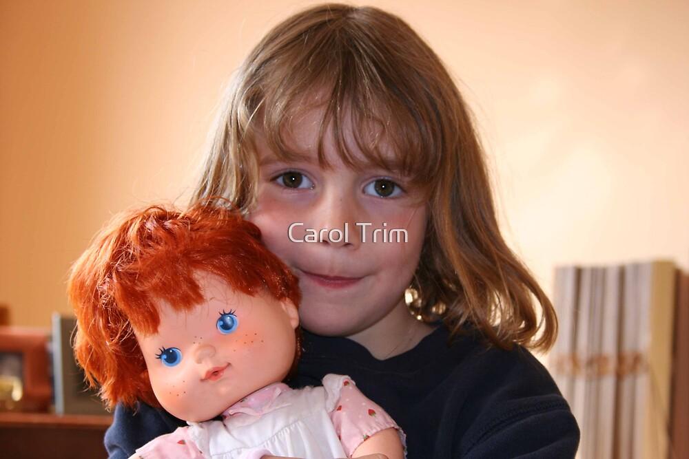 Girl and doll by Carol Trim