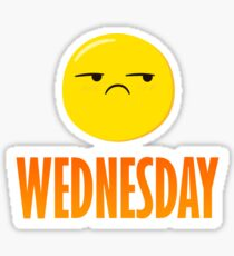funny wednesday emoji design for shirt and more Sticker