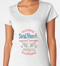 Surf Beach Women's Premium T-Shirt