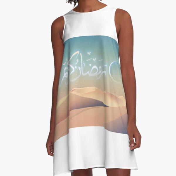 Das Flüstern in der Wüste (für Ramadan 2018) A-Linien Kleid