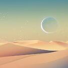 Mond über der Wüste von Daniela  Illing