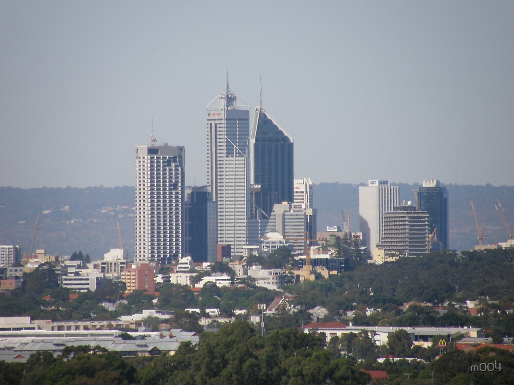 Our Skyline Looks Small & Compacted When Viewed From Reabold Hill. City Beach. by m004