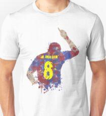 Andres Iniesta - Barcelona Legend Art Unisex T-Shirt