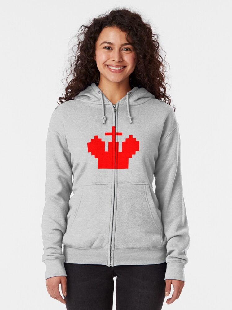 Alternate view of Pattern, design, tracery, weave, marking, colours, fashionable, trendy Zipped Hoodie