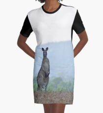 Silvery roo Graphic T-Shirt Dress