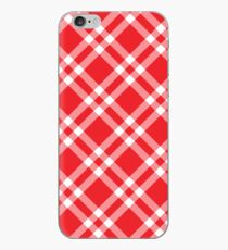 Checkered Pattern In Red IPhone Case
