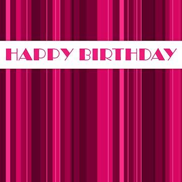 Pink Birthday card by katmac