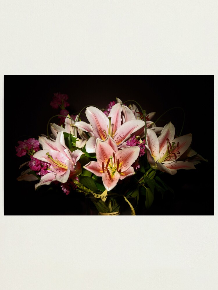 Alternate view of Flowers By Torch light Photographic Print