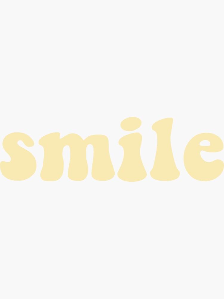 Smile - Yellow by chloelavigne