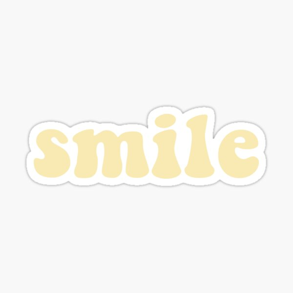 Smile - Yellow Sticker