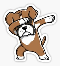Dabbing Boxer Sticker