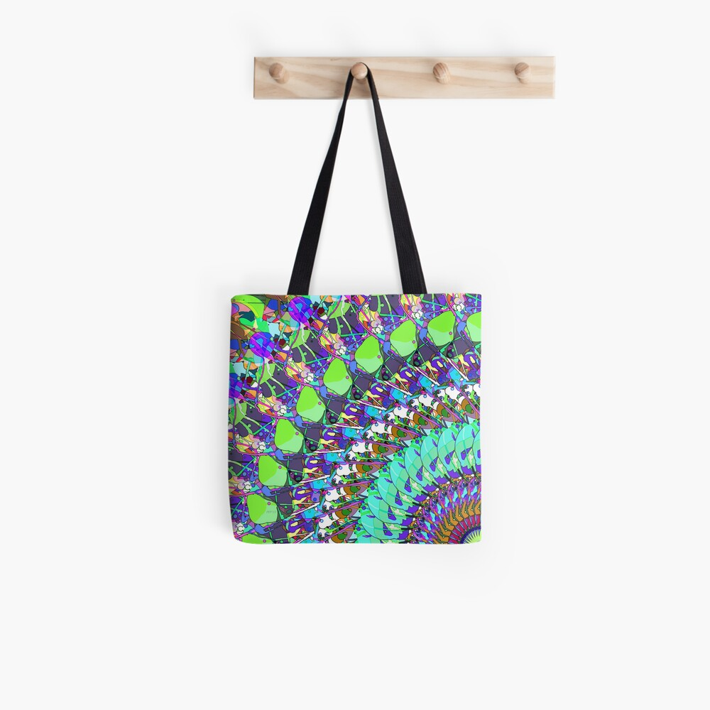 Abstract Collage of Colors Tote Bag