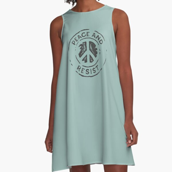 Peace and Resist - 2018 Midterm Elections A-Line Dress