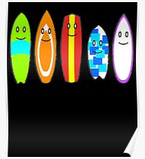 Fun Surfboard Poster