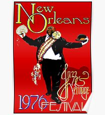 NEW ORLEANS : Vintage 1976 Jazz and Heritage Festival Print Poster