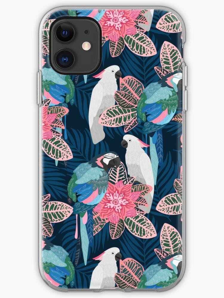 tropical birds iphone 11 case