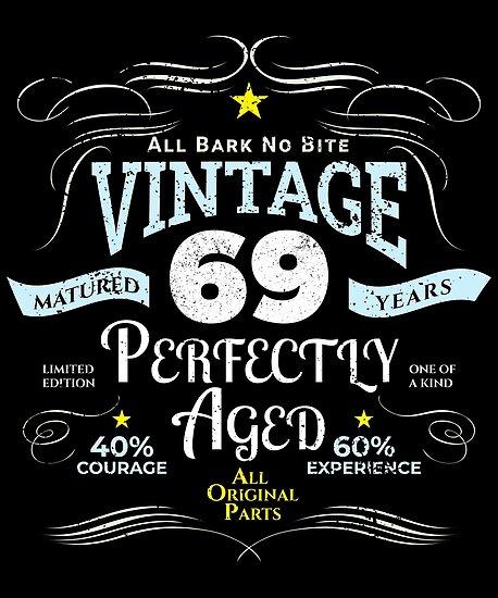 Funny Vintage 69th Birthday Gift