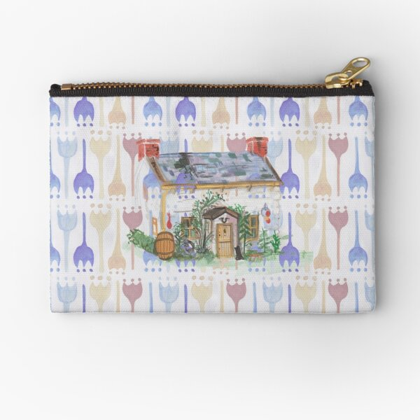 Folk Cottage Zipper Pouch
