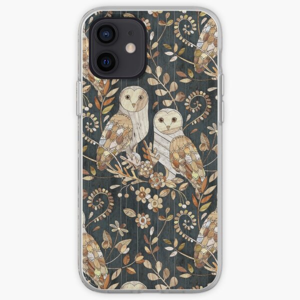 Wooden Wonderland Barn Owl Collage iPhone Soft Case