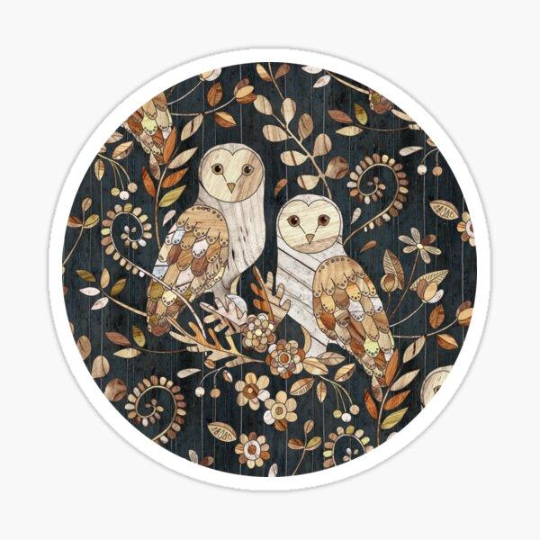 Wooden Wonderland Barn Owl Collage Sticker