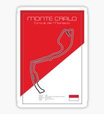 Monte Carlo Racetrack Sticker