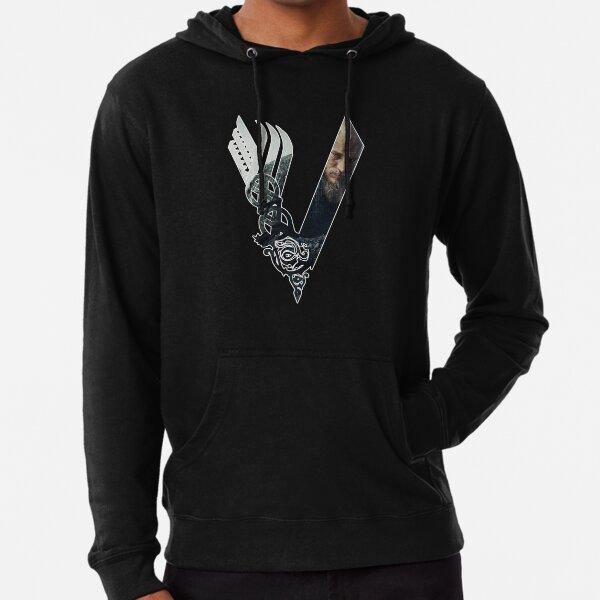 Vikings Logo Ragnar Sweat à capuche léger