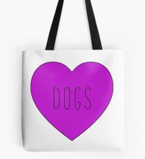 Love Dogs (Purple) Tote Bag