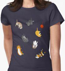 Kitten Rain Womens Fitted T-Shirt
