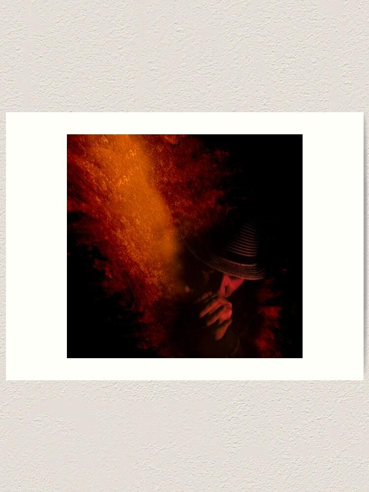 Alternate view of Firey Blues Art Print