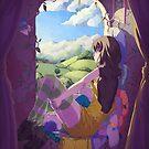 « Gatchaman Crowds - Hajime at the window » par Sedeto