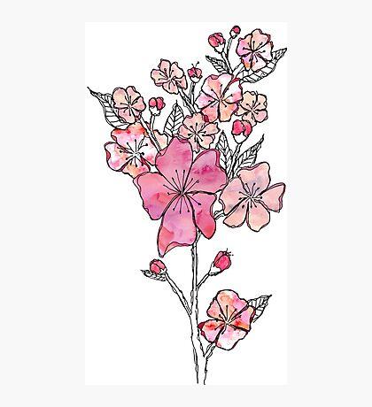 Cherry Blossom Watercolor Photographic Print