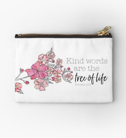 Cherry Blossom Watercolor Studio Pouch