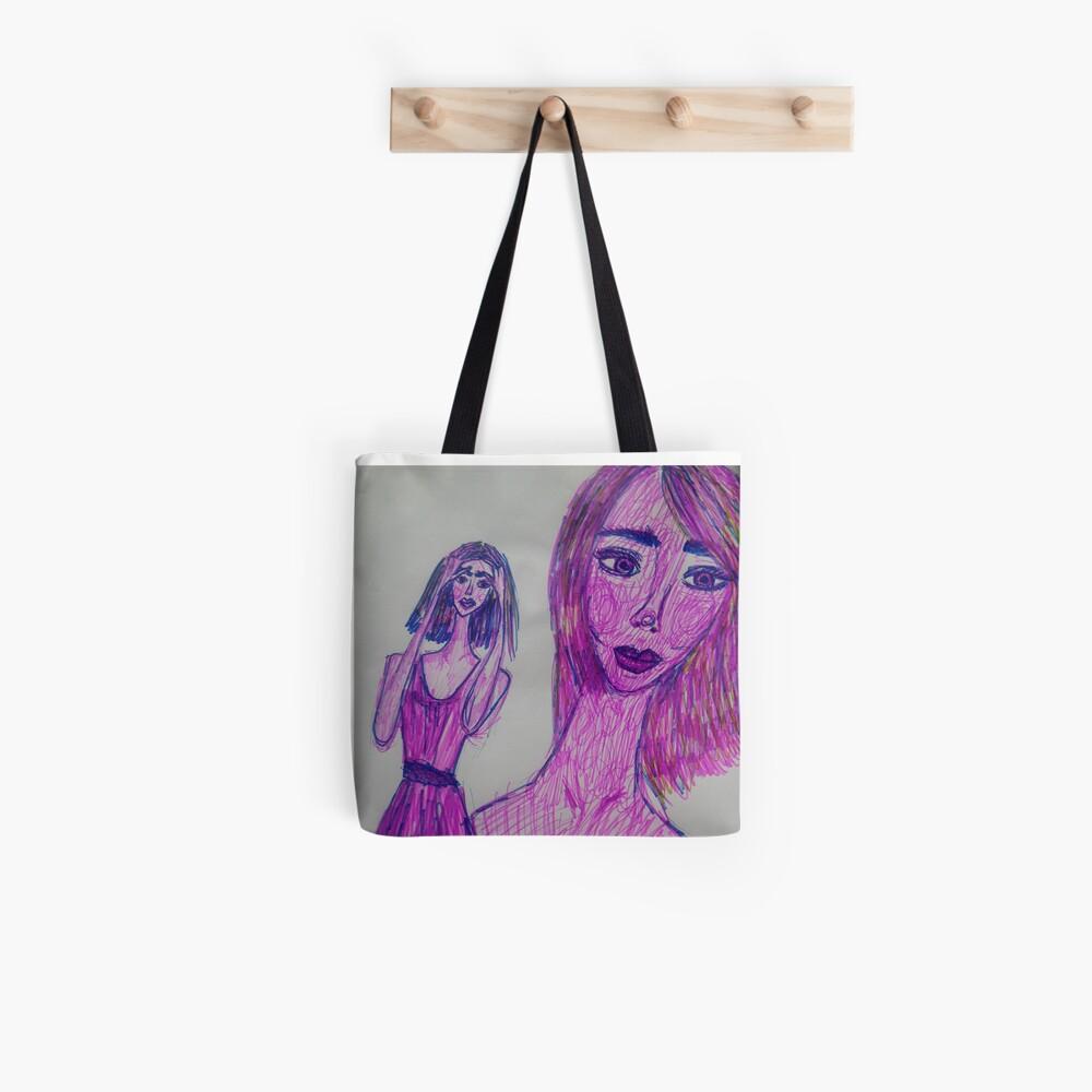 A Girl Having a Meditative Moment Tote Bag