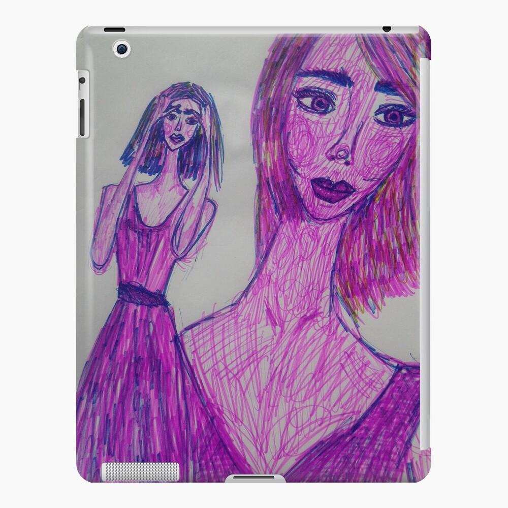 A Girl Having a Meditative Moment iPad Case & Skin