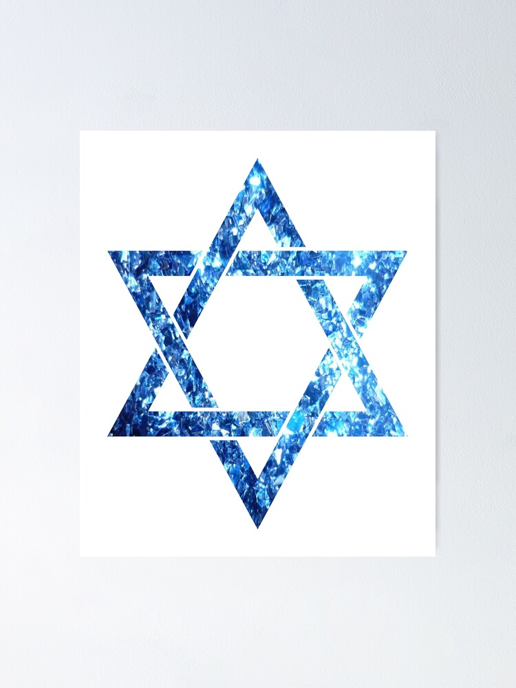 Star Of David Israel Magen David White And Blue Diamonds Isreali ...