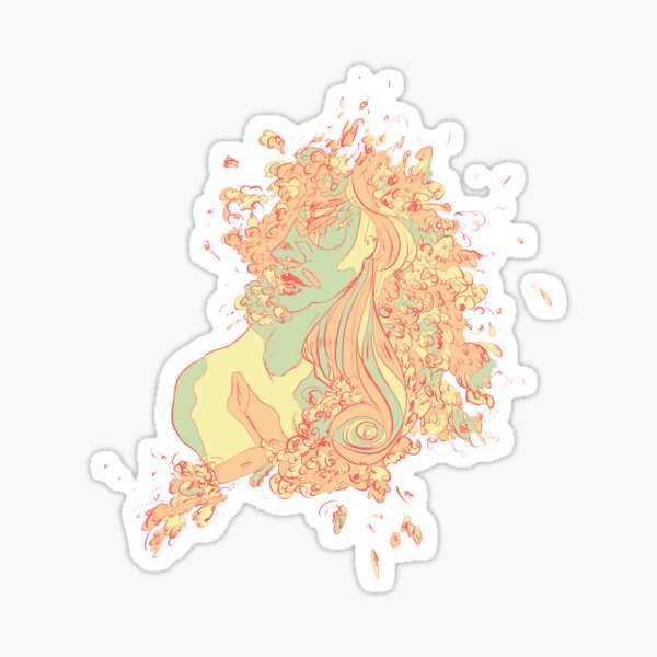 ...and Aphrodite turns to foam Sticker