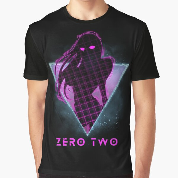 Zero Two - Future 80s Anime   Darling in the Franxx Graphic T-Shirt