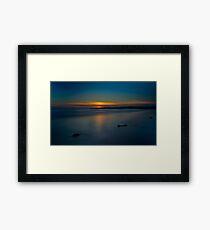 Mavillette Beach Sunset Framed Print