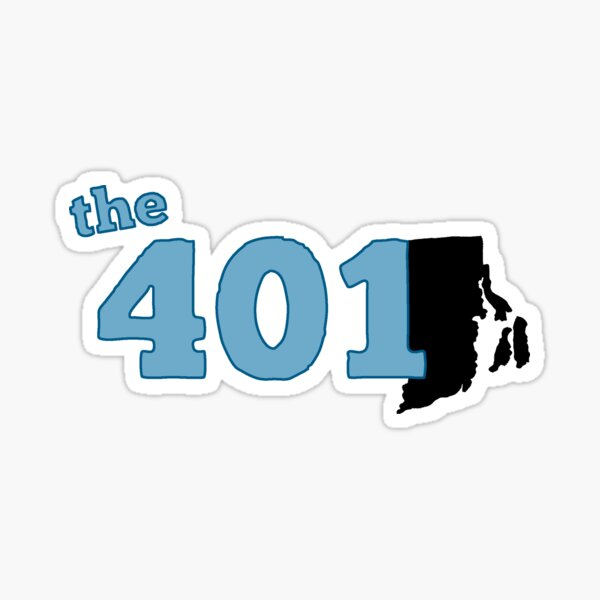 the401 (Blue) Sticker