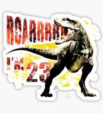 23rd Birthday Gift 23 Year Old Dinosaurs Birthday Present Sticker